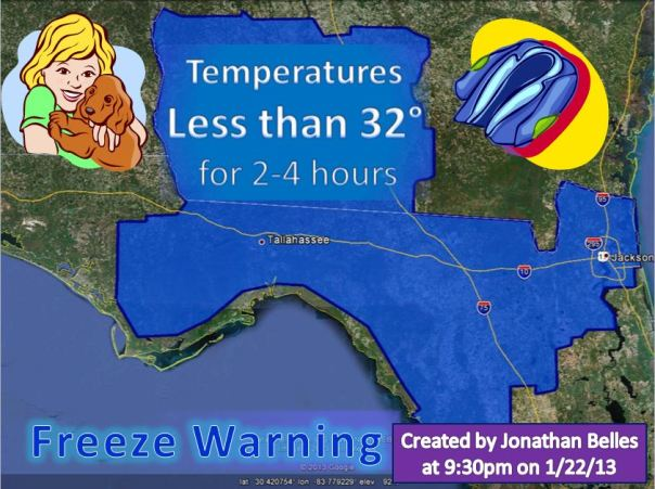012213 Freeze Warning