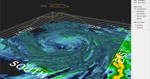 080814 Iselle 3D radar