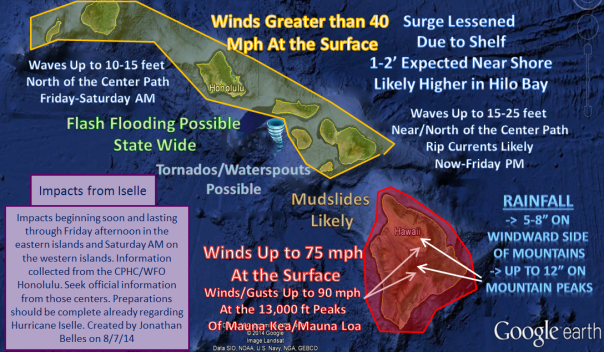 080814 Iselle Impacts