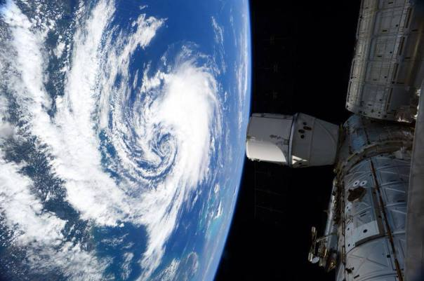 Subtropical Storm Ana from the International Space Station