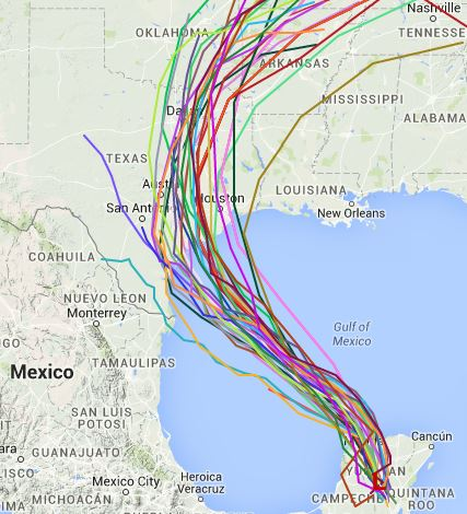 06Z Track Models from Tropical Atlantic.