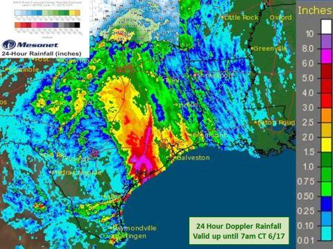 Rainfall totals. Sources:  -NWS: up until 12z 6/17 -OK Mesonet: Up until 00z 06/17