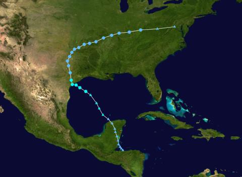 Full Bill track. Data from NOAA, track from Wikipedia