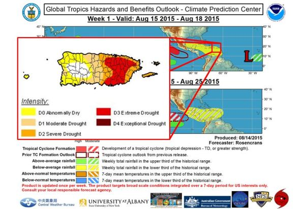 Drought Monitor and Hazards Outlook released during the last week