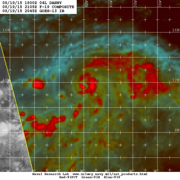 Microwave imagery showing structure/NRL