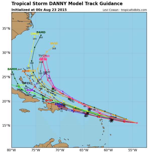 00z Track Models from Tropical Tidbits