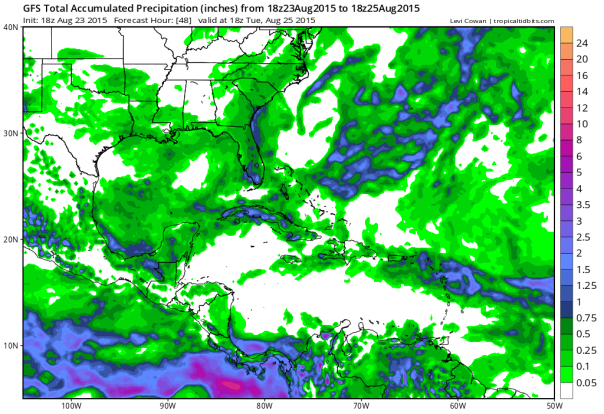 18z GFS Accumulated Rainfall