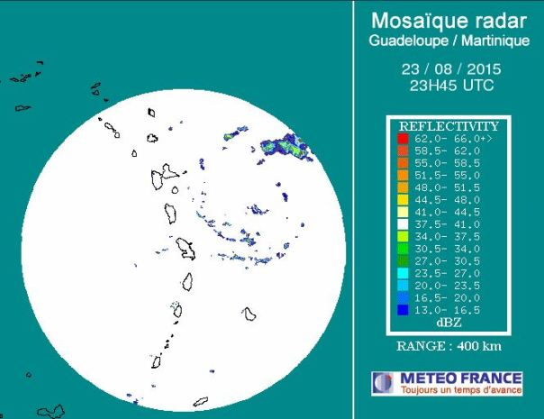 Guadeloupe Radar at 2345z