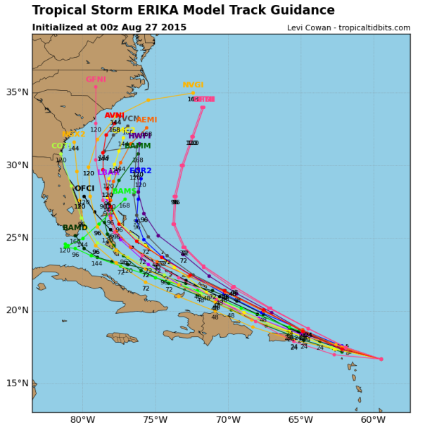 00z Track Models/Tropical Tidbits