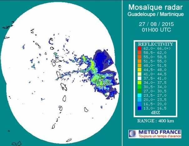 9 PM AST Guadeloupe Radar
