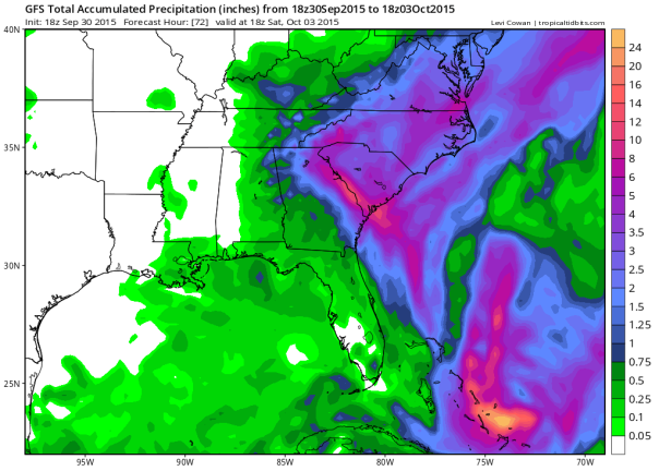 18z GFS Rainfall Totals