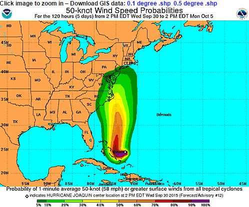 Probability that winds will match or exceed 60 mph.